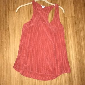 Club Monaco silk racer back tank top size small